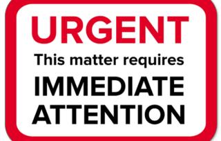 Urgent Immediate Attention